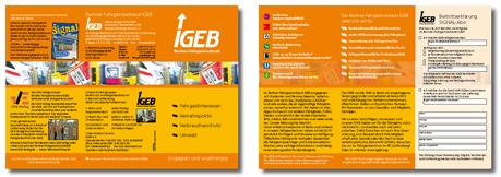 Image-Faltblatt der IGEB